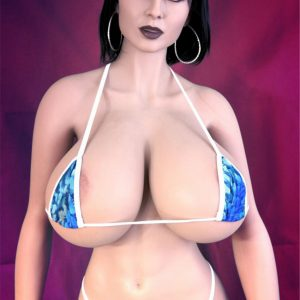 170 Cm Silicone Love Doll Real Size Black Hair Thick Makeup Giant Chest Bbw