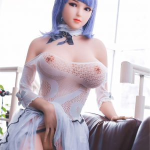 168cm Silicone Doll Big Breasts Muscle Real Silver Curls Slut
