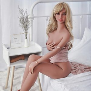 155cm Blond Girl Small Breasts Realistic Sex Dolls Slender
