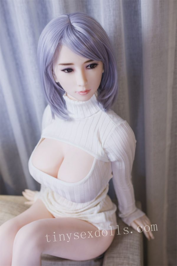 Purple Hair Young Girl Huge Boob For Men Tpe Sex Doll