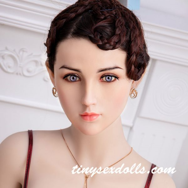 140-172cm Anal Delicate Eyes Silicone Sex Dolls Head For Doll